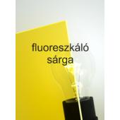 Policril - 3 mm - fluoreszkáló sárga - 250 x 200 mm