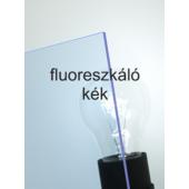 Policril - 3 mm - fluoreszkáló kék - 600 x 505 mm
