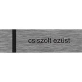 Lézerfólia HD - 0,2 mm - szálcsiszolt ezüst / fekete - 610 x 305 mm