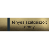 Laserply HD - 1,5 mm - fényes szálcsiszolt arany - 300 x 200 mm