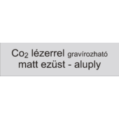 Aluply - 0,5 mm - matt ezüst - 500 x 250 mm