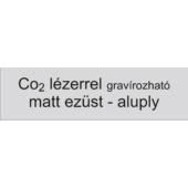 Aluply - 1 mm - matt ezüst - 1000 x 500 mm