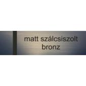 Lézerfólia - 0,2 mm - matt szálcsiszolt bronz - 610 x 305 mm