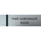 Alutec - 1,5 mm - matt szálcs. ezüst / fekete / ezüst - 610 x 300 mm