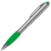 """""""Besk"""" LED-es golyóstoll - zölden világító"""