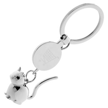 """""""Kimba"""" cica kulcstartó - bevásárlókocsi érme"""