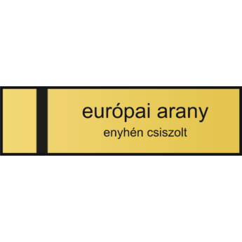 Névtábla 140 x 40 mm - európai arany - 1,5 mm fazettázva