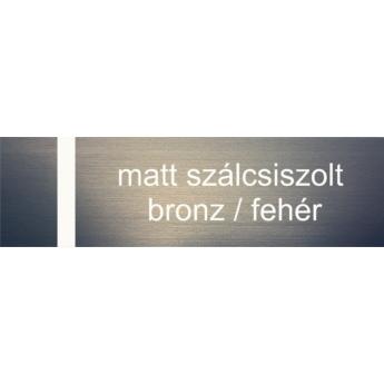 Transply - 1,5 mm - szálcsiszolt bronz / fehér - 1220 x 610 mm
