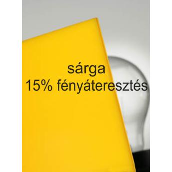 Plexiglas GS - 3 mm - sárga - 1010 x 600 mm