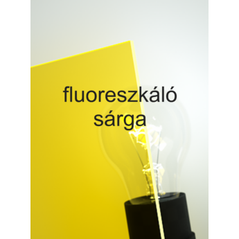 Policril - 3 mm - fluoreszkáló sárga - 600 x 505 mm