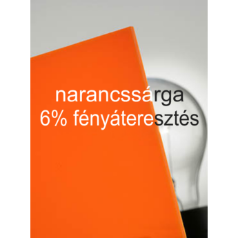 Plexiglas GS - 3 mm - narancssárga - 500 x 300 mm