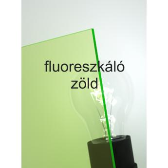 Policril - 3 mm - fluoreszkáló zöld - 1010 x 600 mm