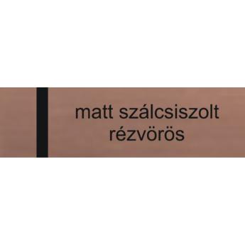 Lézerfólia - 0,2 mm -szálcsiszolt rézvörös / fekete - 610 x 305 mm