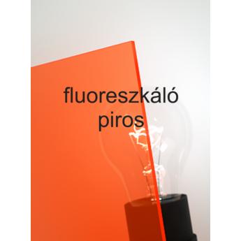 Policril - 3 mm - fluoreszkáló piros - 300 x 200 mm