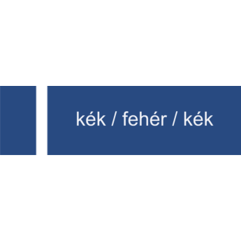 Melamin - 1,4 mm - kék / fehér / kék - 610 x 605 mm