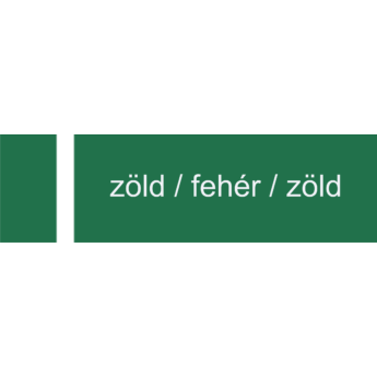 Melamin - 1,4 mm - zöld / fehér / zöld - 1220 x 605 mm