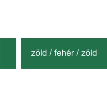 Melamin - 1,4 mm - zöld / fehér / zöld - 605 x 305 mm