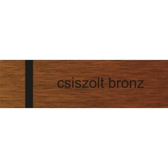 ECP - 1 mm - szálcsiszolt bronz / fekete - 1000 x 500 mm
