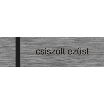 Laserply - 0,6 mm - csiszolt ezüst / fekete - 1220 x 610 mm