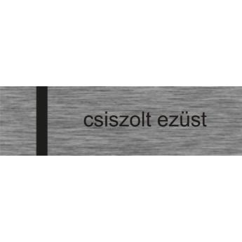 Laserply - 0,4 mm - csiszolt ezüst / fekete - 1220 x 610 mm