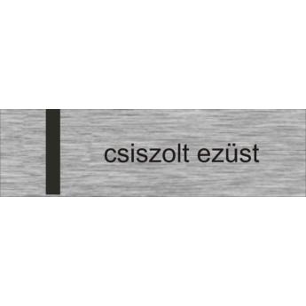 Névtábla 140 x 40 mm - csiszolt ezüst - 1,5 mm
