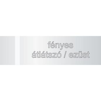 Transakril - 1,5 mm - fényes átlátszó / ezüst - 610 x 610 mm