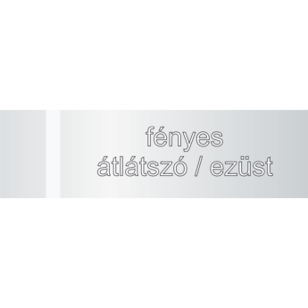 Transakril - 1,5 mm - fényes átlátszó / ezüst - 300 x 200 mm