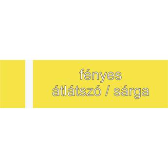 Transakril - 1,5 mm - fényes átlátszó / sárga - 610 x 610 mm