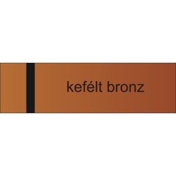 Lézerfólia - 0,2 mm - kefélt bronz / fekete - 610 x 305 mm
