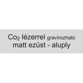 Névtábla 140 x 40 mm - matt ezüst - aluply - 1 mm