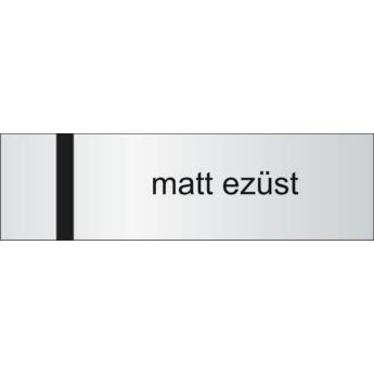 Lasertec - 0,7 mm - matt ezüst / fekete - 610 x 610 mm