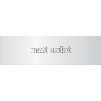 Aluminium - 1 mm - matt ezüst - 250 x 250 mm