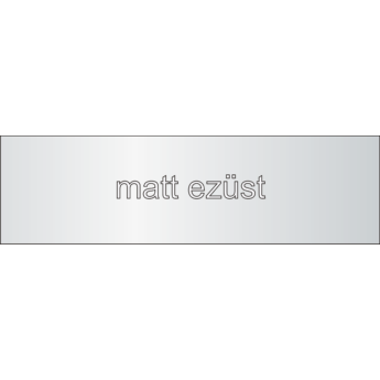 Aluminium - 1 mm - matt ezüst - 250 x 250 mm