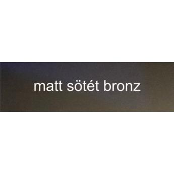 Alumínium - 1 mm - matt sötét bronz - 500 x 500 mm