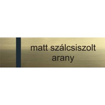 Transply - 2,5 mm - matt szálcsiszolt arany / fekete - 610 x 610 mm
