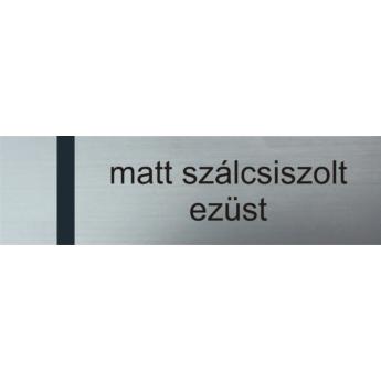 Transply - 2,5 mm - matt szálcsiszolt ezüst / fekete - 610 x 610 mm