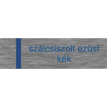 Transply - 1,5 mm -  szálcsiszolt ezüst / kék - 610 x 610 mm