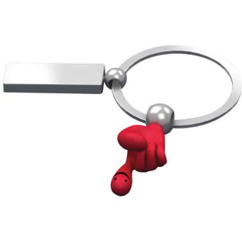 """Fun hands"" kulcstartó - piros"