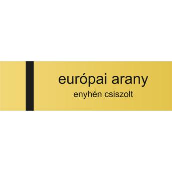 Névtábla 140 x 40 mm - európai arany - 1,5 mm