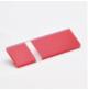 Transakril - 1,5 mm - fényes átlátszó / piros - 610 x 610 mm