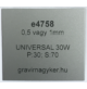 Aluply - 0,5 mm - matt ezüst - 1000 x 500 mm