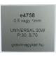 Aluply - 1 mm - matt ezüst - 500 x 250 mm
